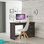 Demeyere Aristote Contemporary Computer Desk - Vulcano Oak