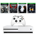 Xbox One S 500GB Gears of War and Halo Special Edition Bundle