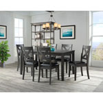 Alexa Transitional 7-Piece Dining Set - Grey