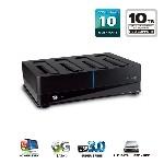 "Mediasonic 4 Bay Hard Drive Dock for 2.5"" and 3.5"" SATA SSD / HDD - USB 3.0 & eSATA - Support 10TB HDD & UASP (HFD1-SU3S2)"