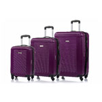 CHAMPS Luggage Broadway Collection 3-Piece Hard Side 4-Wheeled Expandable Luggage Set - Purple