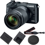Canon EOS M6 Mirrorless with 18-150mm Lens Black