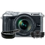Canon EOS M6 Mirrorless with 18-150mm Lens Silver