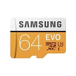 Samsung MB-MP64GA EVO 64GB U3 Micro SD Memory Card with Adapter (2017 Model)