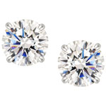 Stud Earrings in Sterling Silver with Cubic Zirconia