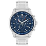 Citizen 44mm Men's Solar Powered Chronograph Sport Watch - Silver-Tone/Blue