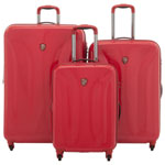 Ensemble de 3 valises rigides extensibles Solara Deep Space de Heys - Rouge