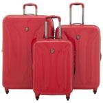 Heys Solara Deep Space 3-Piece Hard Side Expandable Luggage Set - Red