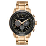 Citizen Brycen 44mm Men's Solar Powered Chronograph Casual Watch - Rose Gold/Black