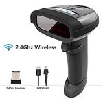 NETUM Wireless Barcode Scanner 2.4GHz Handheld Cordless Bar-Code Reader USB Rechargeable Wireless Wired for Laptop Computer PO