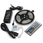 LIXSUNTEK Multi Color LED Strip Lights Waterproof 16.4ft 5M 300leds 44Key Remote