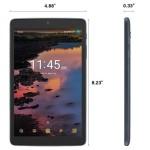 Tablet-Alcatel A30 9024O 16GB Wi-Fi + SIM Dark Grey-Unlocked -Refurbished