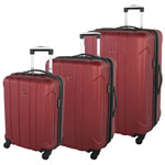 SWISSGEAR Chic 3-Piece Hard Side Expandable Luggage Set - Red