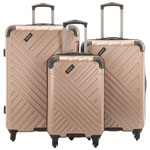 Ensemble de 3 valises rigides Kings Point de Kenneth Cole - Rose doré