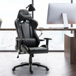HOMCOM Executive Racecar Style Office Chair Black