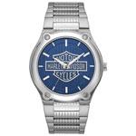 Bulova Harley Davidson 42mm Men's Dress Watch - Silver/Blue