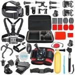 SmilePowo 42-in-1 Accessory Kit For Gopro Hero5 Black, Hero5 Session, Hero6 Black, Gopro Fusion, Hero 4 Silver Black, Hero Ses