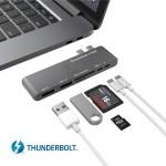 Thunderbolt 3 Hub, Stouchi USB C Hub Combo Adapter, Thunderbolt 3 Dock 40Gb/s (PD Qucik charging) 6 in 1 TB3, USB-C 3.0 port,