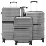 Samsonite McGrath 3-Piece Hard Side Expandable Luggage Set - Silver