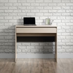Square 1 Desk with Drawer - Grey Ash