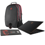 "BUNDLE MSI Gaming Laptop GS65 8RE-060CA 15.6"" Core I7-8750 GTX 1060 16GB RAM 256GB SSD Windows 10"