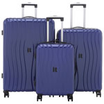 IT Luggage Doppler 3-Piece Hard Side Expandable Luggage Set - Sapphire