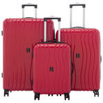 IT Luggage Doppler 3-Piece Hard Side Expandable Luggage Set - Ribbon Red