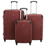 Ensemble de 3 valises rigides extensibles Red Mountain de SWISSGEAR - Rouge