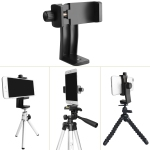 "Cell Phone Stand Tripod for iPhone 7 Plus, 7, 6, 6 Plus, 5, HTC Samsung LG, AFUNTA Universal Smartphone Holder Mount, 1/4""-20"