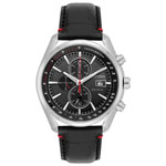 Citizen Strap Eco-Drive 45mm Men's Solar Powered Chronograph Casual Watch - Black/Silver