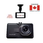 "AceCam 3"" Full HD Dash Cam Dash Camera With Ultra Loop Recording, 1080p, G-Sensor, Night Vision"