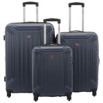 SWISSGEAR Indy 3-Piece Hard Side Expandable Luggage Set - Navy