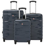 SWISSGEAR Powder King 3-Piece Hard Side Expandable Luggage Set - Blue