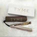 TYME Iron Gold Plated Titanium 2 in 1 Hair Straightening Curling Iron