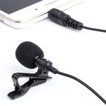 Lavalier Microphone - Peyou Mini Hands Free Lavalier Clip-On Omnidirectional Microphone for iPhone SE 6S/6S Plus, Samsung Gala