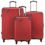 Kenneth Cole Kings Point 3-Piece Hard Side Luggage Set - Red