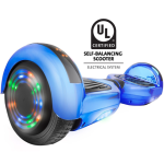 Gyrocopters PRO Hoverboard with Bluetooth Speaker, LED Lights on Top, Front & wheels, UL2272 (LIMITED EDITION) - Chrome Blue