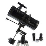 Celestron PowerSeeker 127 EQ 127 x 1000mm Newtonian Reflector Telescope with Smartphone Adapter - Only at Best Buy