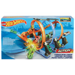 Hot Wheels Corkscrew Crash Track Set (FTB65)
