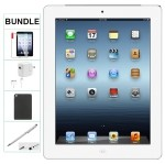 Apple IPAD 4th Generation 16GB WHITE WIFI ONLY Refurbished Comes with Case, Stylus Pen, charger and a 1 Year Warranty