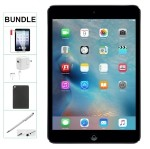 Refurbished Apple iPad Mini 32GB Black WiFi-Only (Gen 1, 2015) BUNDLE [comes with Case, Stylus Pen, Charger & 1 Year Warranty]