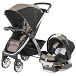 Chicco Bravo Standard Stroller with KeyFit 30 Infant Car Seat - Champagne
