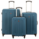SWISSGEAR Apex 3-Piece Hard Side Expandable Luggage Set - Blue