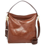 Fossil Maya Leather Hobo Bag - Brown 8f6f1ca088186