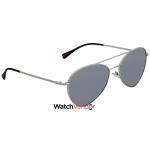 83add70dcbc Prada Polarized Grey Mirror Silver 57 mm Aviator Sunglasses PS 50SS 1AP2F2  57