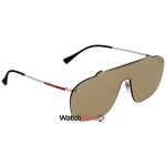 2cf5e6bda5d Prada Brown Mirror Gold Rectangular Sunglasses PS 51TS 1BC128 37