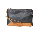 2c540d6a04fb Ashlin Kayleigh Leather Wristlet Pouch - Black Brown