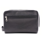 173ce2ff0d95 Ashlin CANNATA Lambskin Napa Leather Men s Toiletry Bag - Midnight Black