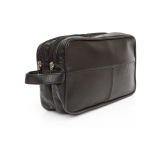 e4f54326d4c5 Ashlin FERNANDEZ Lambskin Napa Leather Cosmetic Bag - Midnight