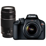 Canon EOS Rebel T100 DSLR Camera with 18-55mm/75-300mm Lenses